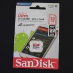 SanDisk Micro SDHC 32GB Class 10 Memory Card