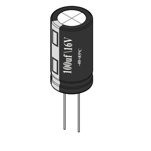 100uF / 16V Electrolytic Capacitor
