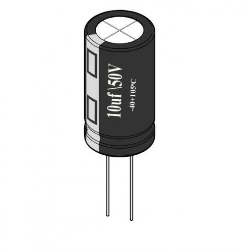 10uF / 50V Electrolytic Capacitor