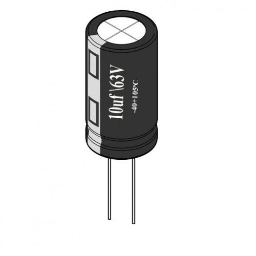 10uF / 63V Electrolytic Capacitor
