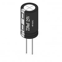 220uF / 25V Electrolytic Capacitor