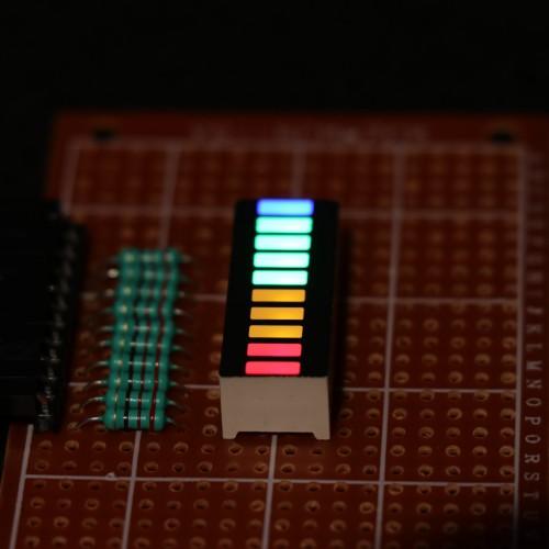 10 Segment Led Bar graph Light Display -(Red Yellow Green Blue)