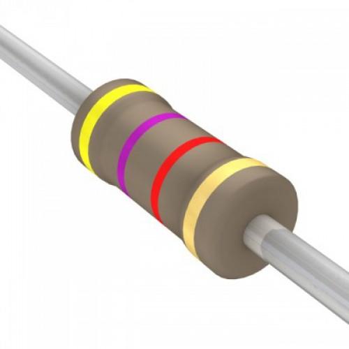 4.7k Ohms Carbon Film Resistor- 1/4 W(5 Per Pack)-EE111-I8R1