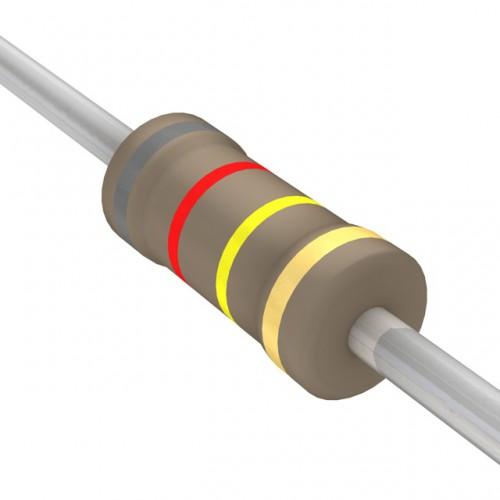 820k Ohms Carbon Film Resistor- 1/4 W(5 Per Pack)-EE116-I7R4