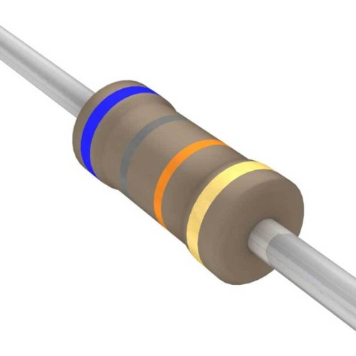 68 Kilo Ohm Carbon Film Resistor- 1/4 W(5 Per Pack)