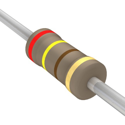 240 Ohms Carbon Film Resistor- 1/4 W(5 Per Pack)