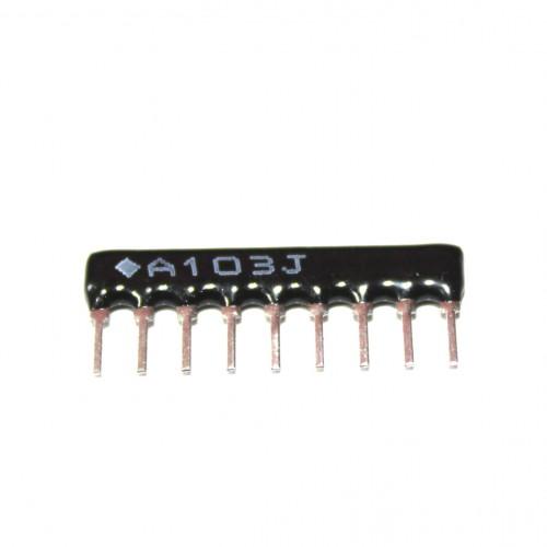 10K Ohm Network Resistor - 9 Pins 8R Leaded