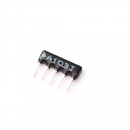 10K Ohm Network Resistor - 5 Pins 4R Leaded