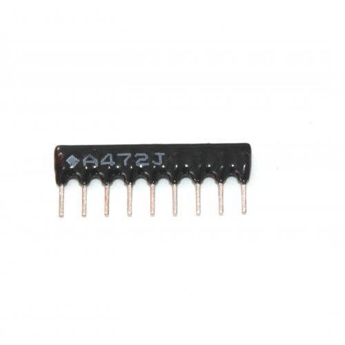 4.7K Ohm Network Resistor - 9 Pins 8R Leaded