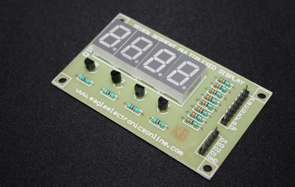 4-Digit 7-segment LED Display Module (Common Cathode) - EE810C -DC8R3