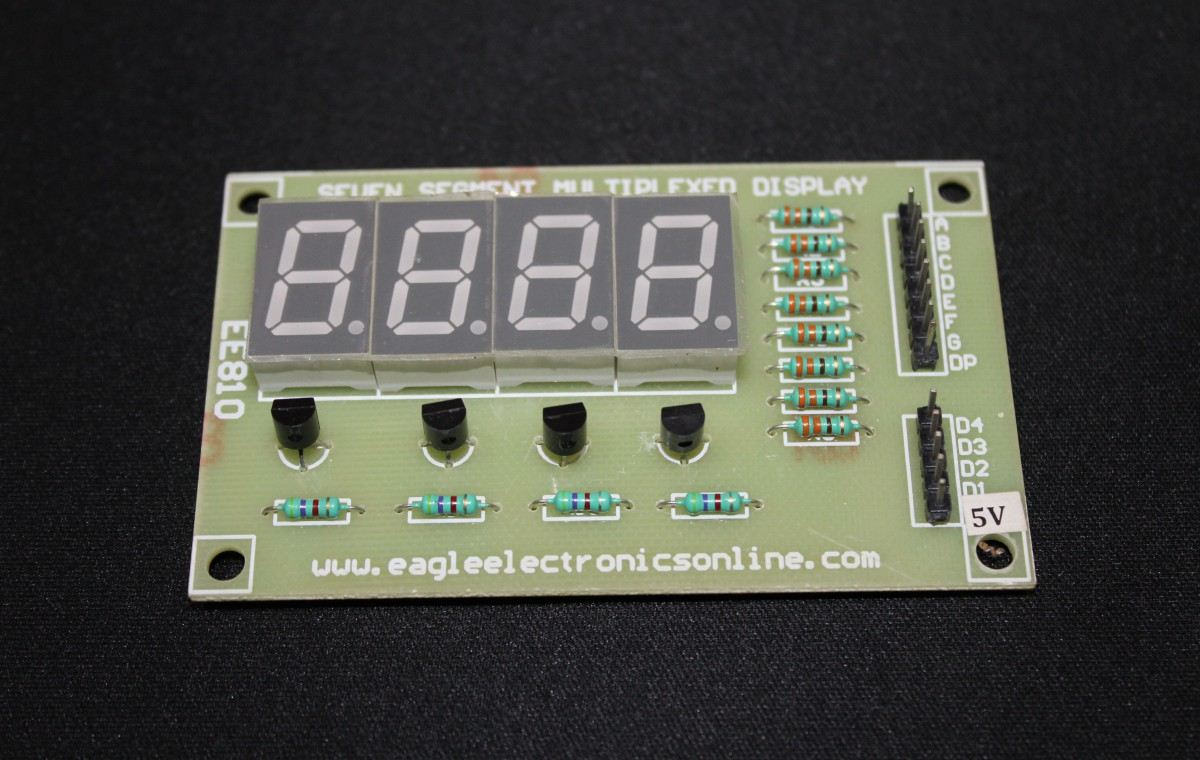 4-Digit 7-segment LED Display Module (Common Anode) - EE810A-DC8R5
