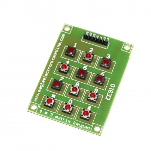 4x3 Matrix KeyPad-EE910-CC11R5